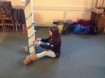Brownies decorating the Village Hall for Tawny