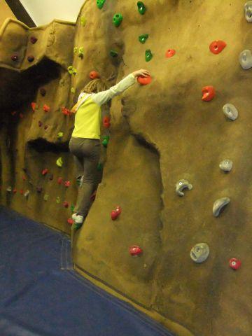 Lea Green climbing wall